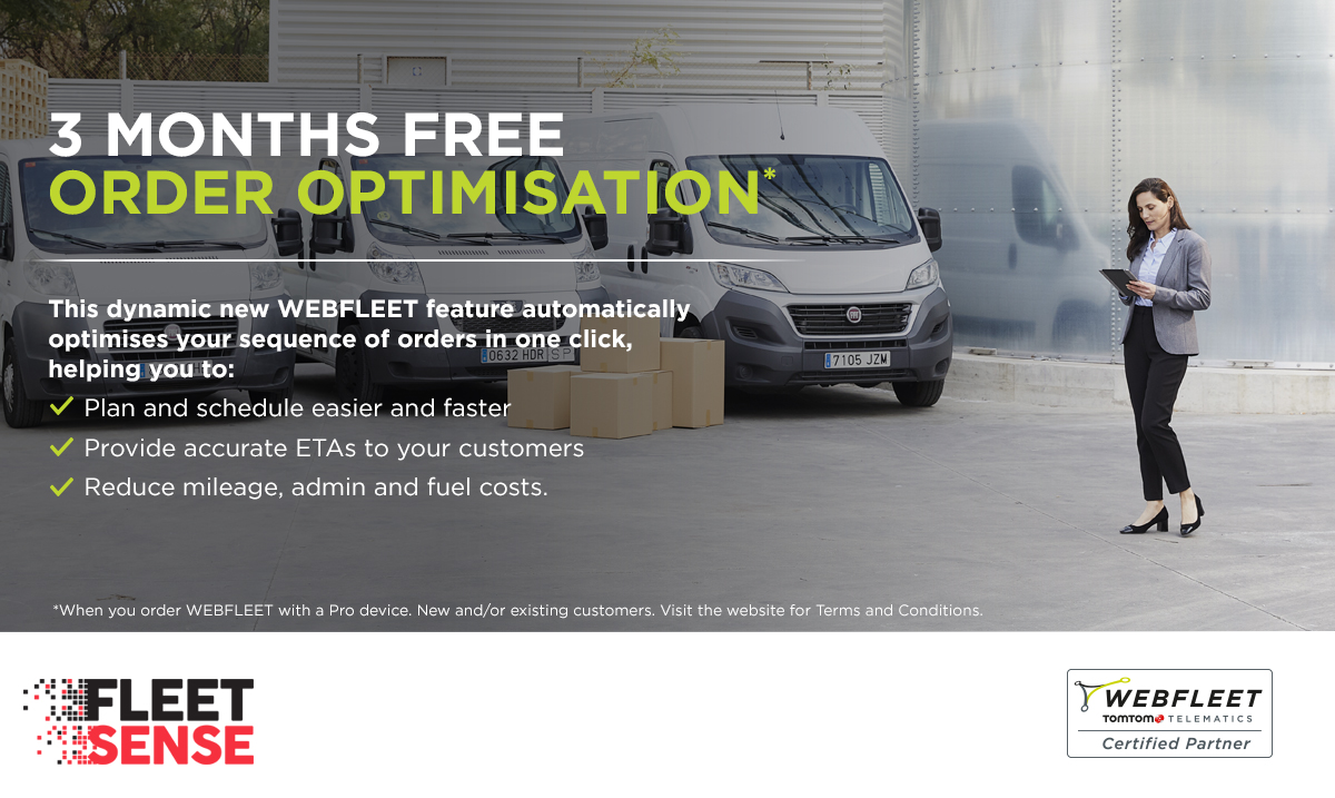 Get Three Months Free Order Optimisation for WEBFLEET